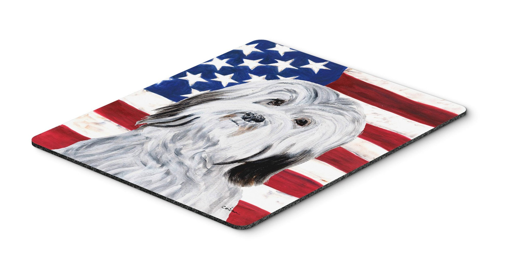 Havanese with American Flag USA Mouse Pad, Hot Pad or Trivet SC9641MP by Caroline's Treasures
