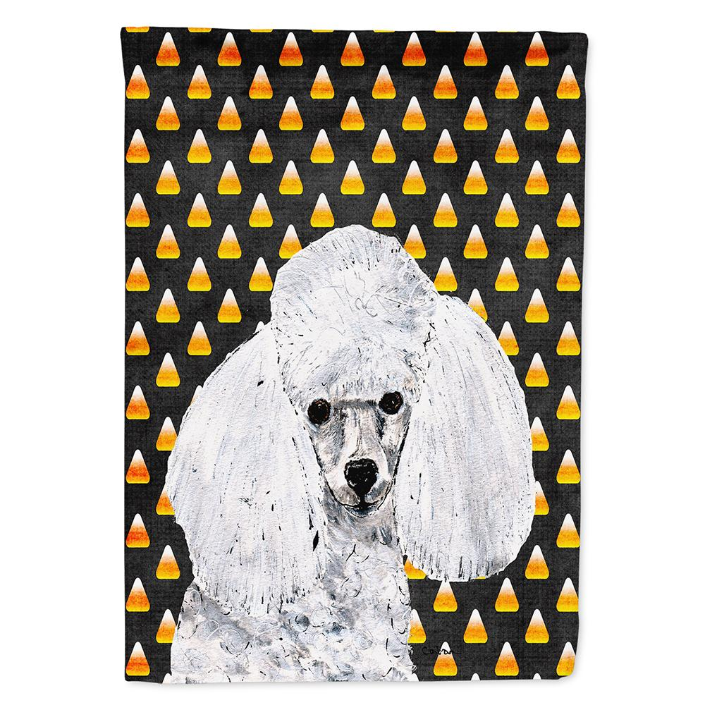 White Toy Poodle Candy Corn Halloween Flag Garden Size SC9653GF by Caroline's Treasures