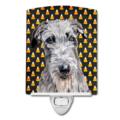 Buy this Scottish Deerhound Candy Corn Halloween Ceramic Night Light SC9658CNL