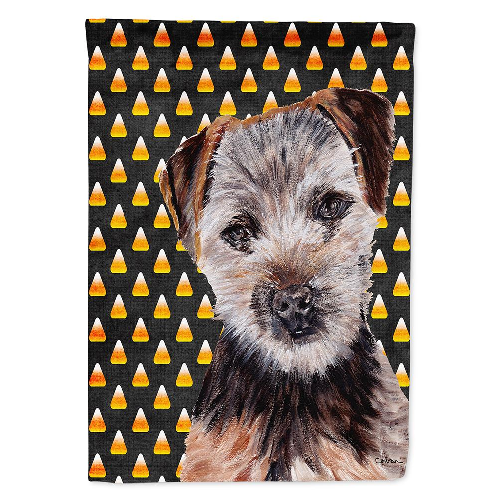 Buy this Norfolk Terrier Puppy Candy Corn Halloween Flag Garden Size SC9663GF