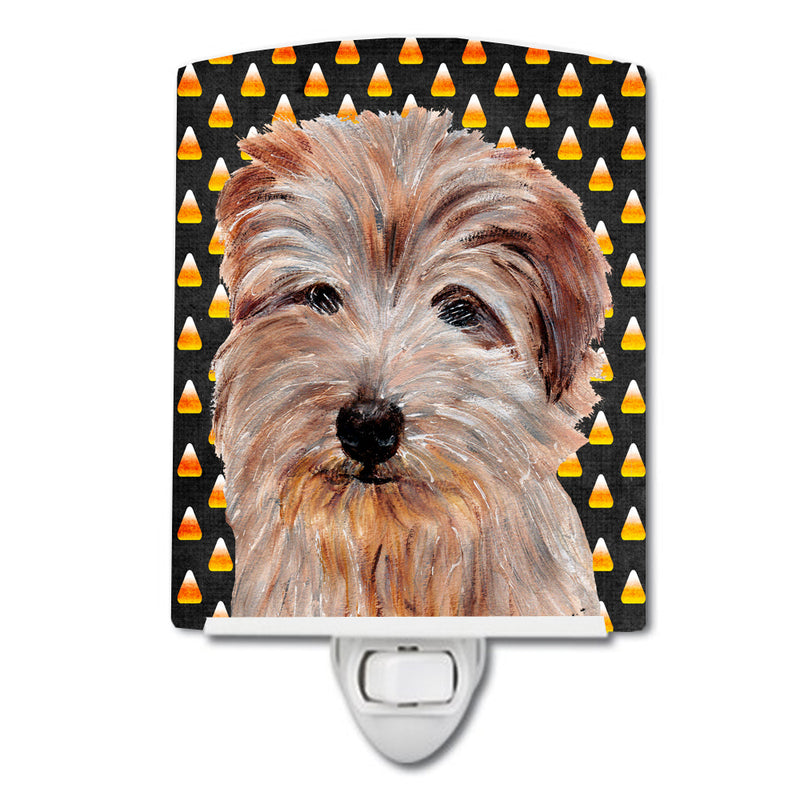 Buy this Norfolk Terrier Candy Corn Halloween Ceramic Night Light SC9664CNL
