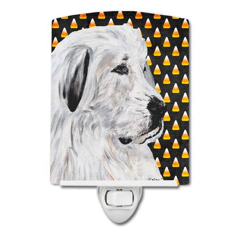 Buy this Great Pyrenees Candy Corn Halloween Ceramic Night Light SC9666CNL