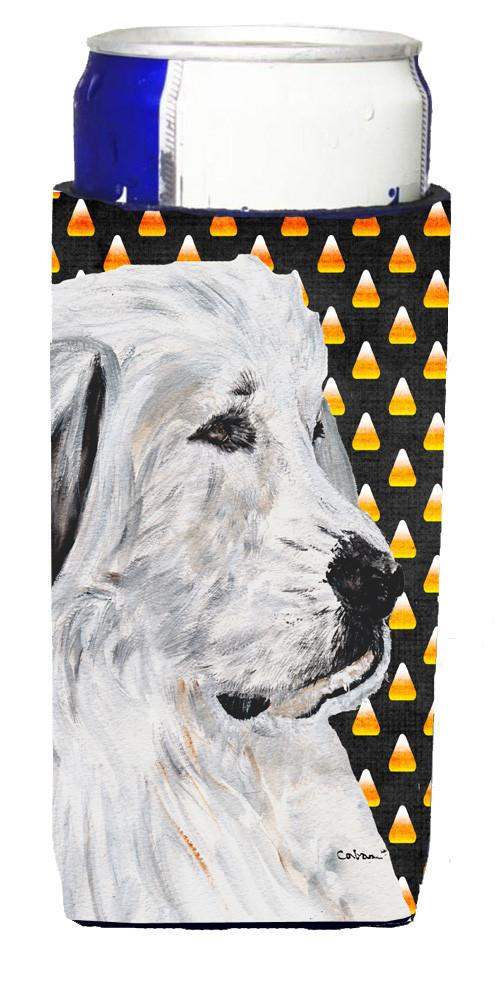 Great Pyrenees Candy Corn Halloween Ultra Beverage Insulators for slim cans SC9666MUK by Caroline's Treasures