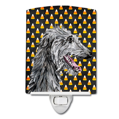 Buy this Scottish Deerhound Candy Corn Halloween Ceramic Night Light SC9669CNL