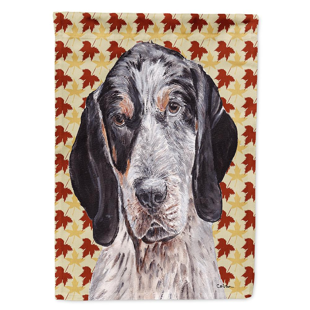 Buy this Blue Tick Coonhound Fall Leaves Flag Garden Size SC9673GF