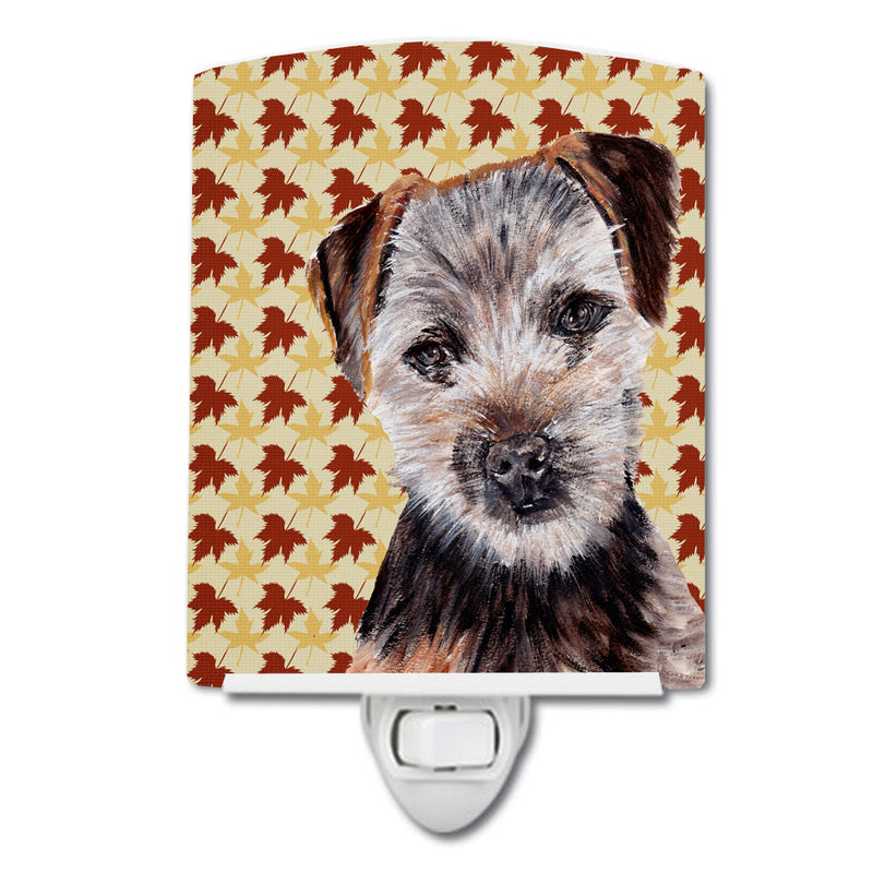 Buy this Norfolk Terrier Puppy Fall Leaves Ceramic Night Light SC9687CNL