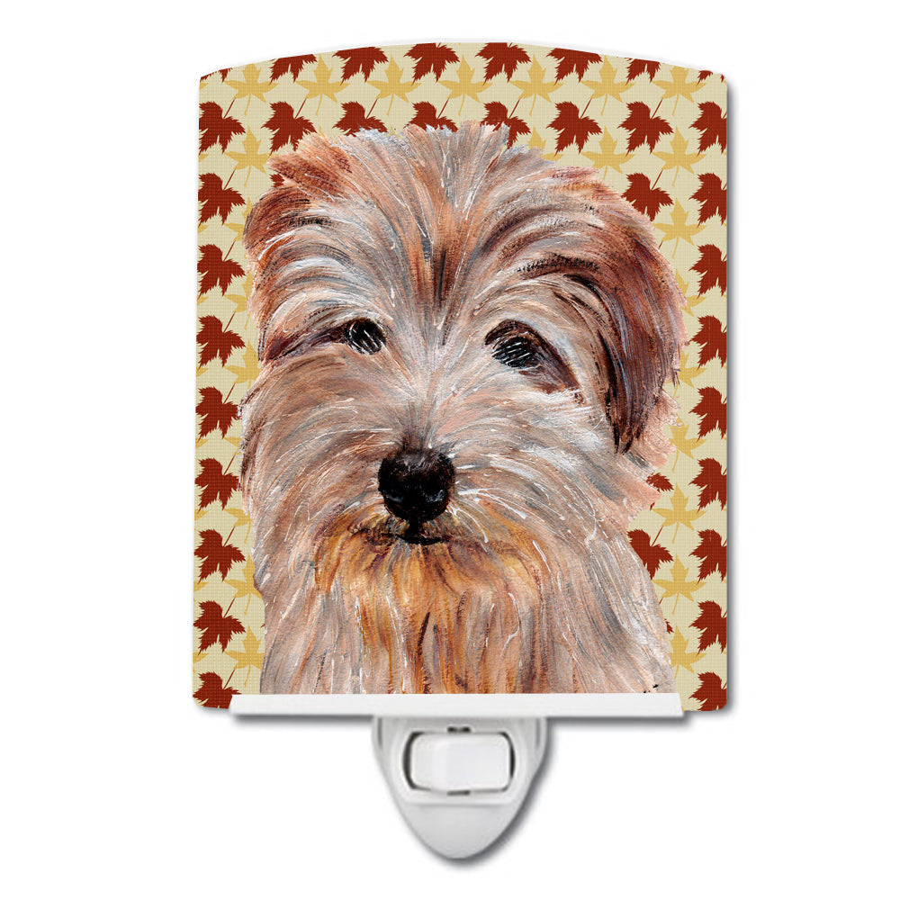 Buy this Norfolk Terrier Fall Leaves Ceramic Night Light SC9688CNL