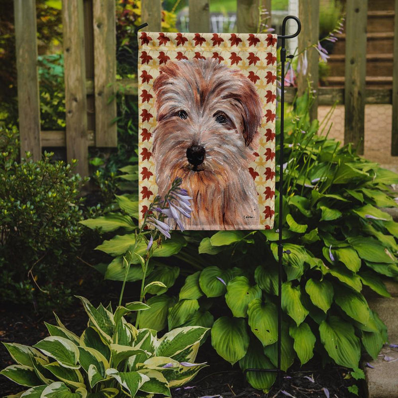 Buy this Norfolk Terrier Fall Leaves Flag Garden Size SC9688GF