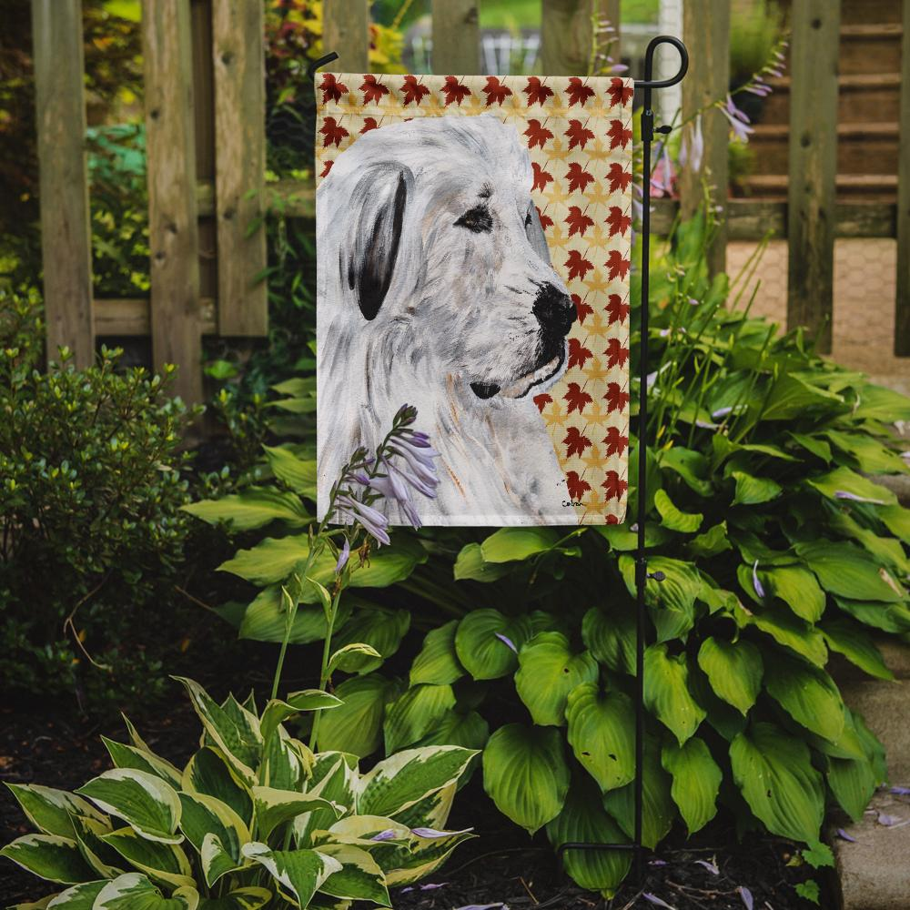 Great Pyrenees Fall Leaves Flag Garden Size SC9690GF by Caroline's Treasures