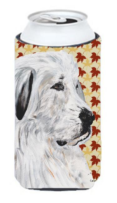 Great Pyrenees Fall Leaves Tall Boy Beverage Insulator Hugger SC9690TBC by Caroline's Treasures