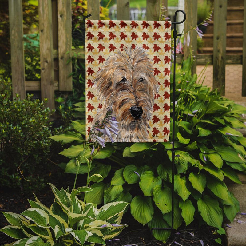 Buy this Golden Doodle 2 Fall Leaves Flag Garden Size SC9691GF
