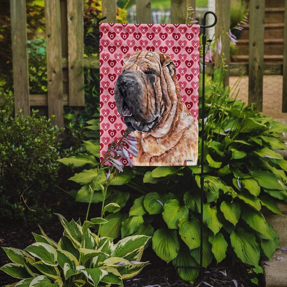 Shar Pei Hearts and Love Flag Garden Size SC9695GF by Caroline's Treasures