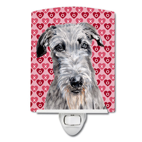 Buy this Scottish Deerhound Hearts and Love Ceramic Night Light SC9706CNL