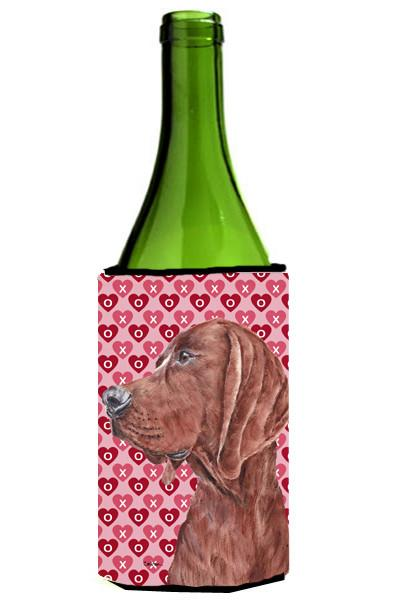 Redbone Coonhound Hearts and Love Wine Bottle Beverage Insulator Hugger SC9707LITERK by Caroline's Treasures