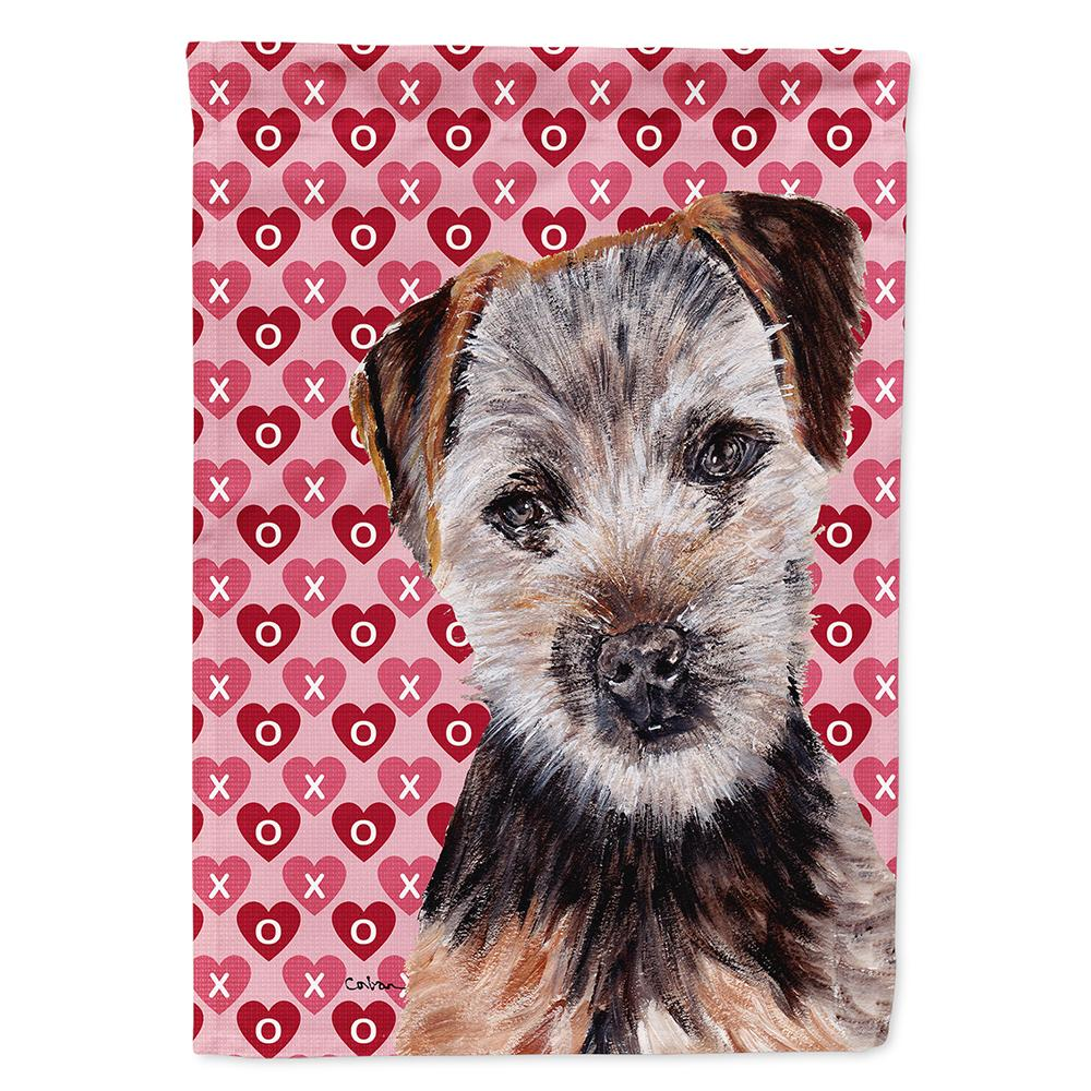 Buy this Norfolk Terrier Puppy Hearts and Love Flag Garden Size SC9711GF