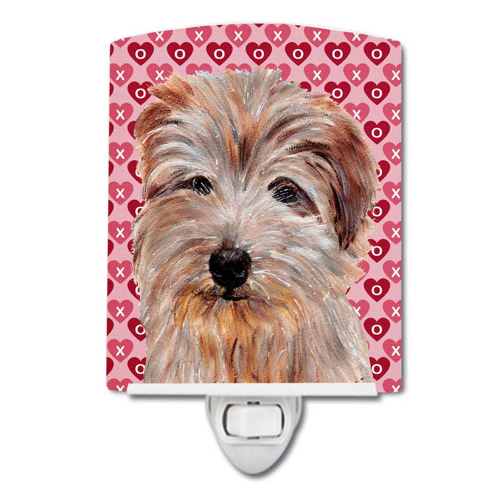Buy this Norfolk Terrier Hearts and Love Ceramic Night Light SC9712CNL