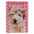 Buy this Norfolk Terrier Hearts and Love Flag Garden Size SC9712GF
