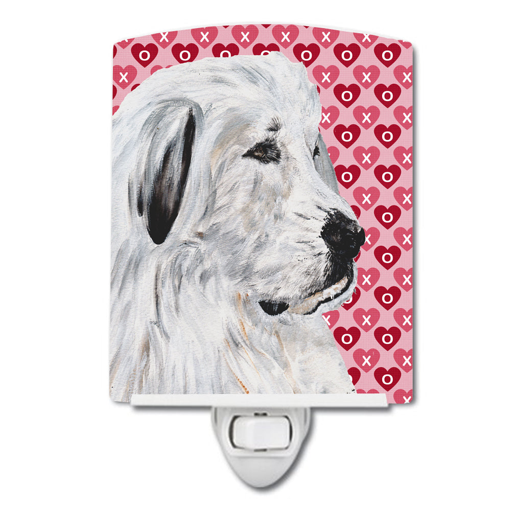 Great Pyrenees Hearts and Love Ceramic Night Light SC9714CNL by Caroline's Treasures