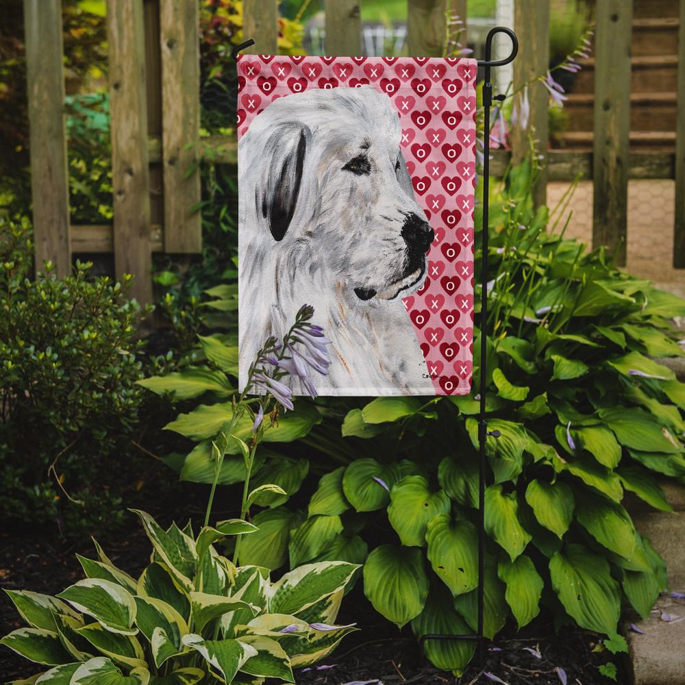 Great Pyrenees Hearts and Love Flag Garden Size SC9714GF by Caroline's Treasures