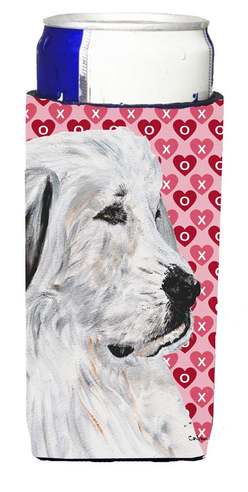 Great Pyrenees Hearts and Love Ultra Beverage Insulators for slim cans SC9714MUK by Caroline's Treasures