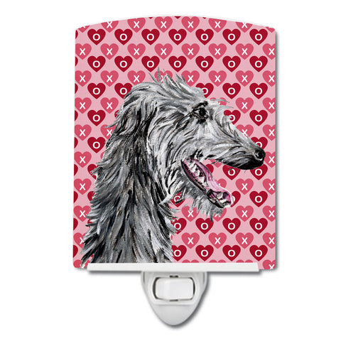 Buy this Scottish Deerhound Hearts and Love Ceramic Night Light SC9717CNL