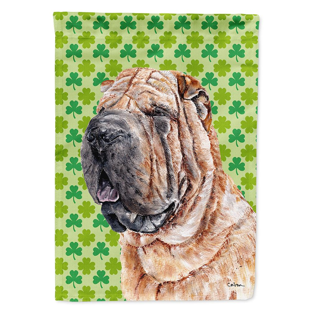 Buy this Shar Pei Lucky Shamrock St. Patrick's Day Flag Garden Size SC9719GF