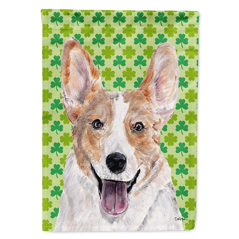 Buy this Cardigan Corgi Lucky Shamrock St. Patrick's Day Flag Garden Size