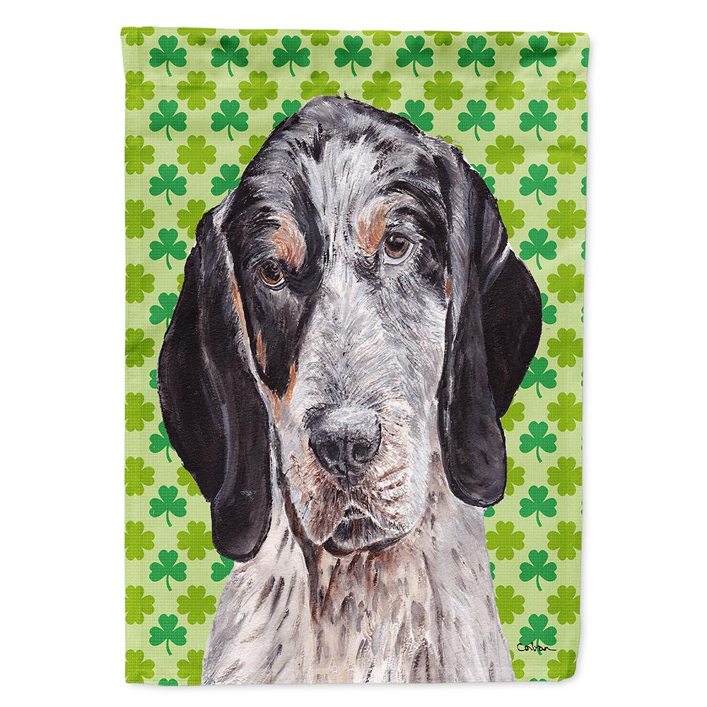 Buy this Blue Tick Coonhound Lucky Shamrock St. Patrick's Day Flag Garden Size