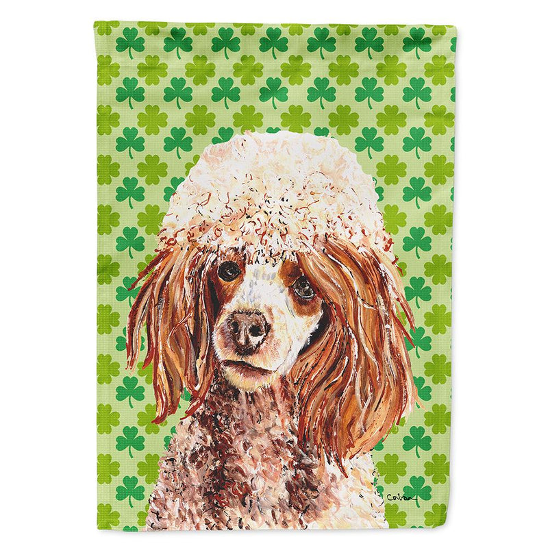 Buy this Red Miniature Poodle Lucky Shamrock St. Patrick's Day Flag Garden Size