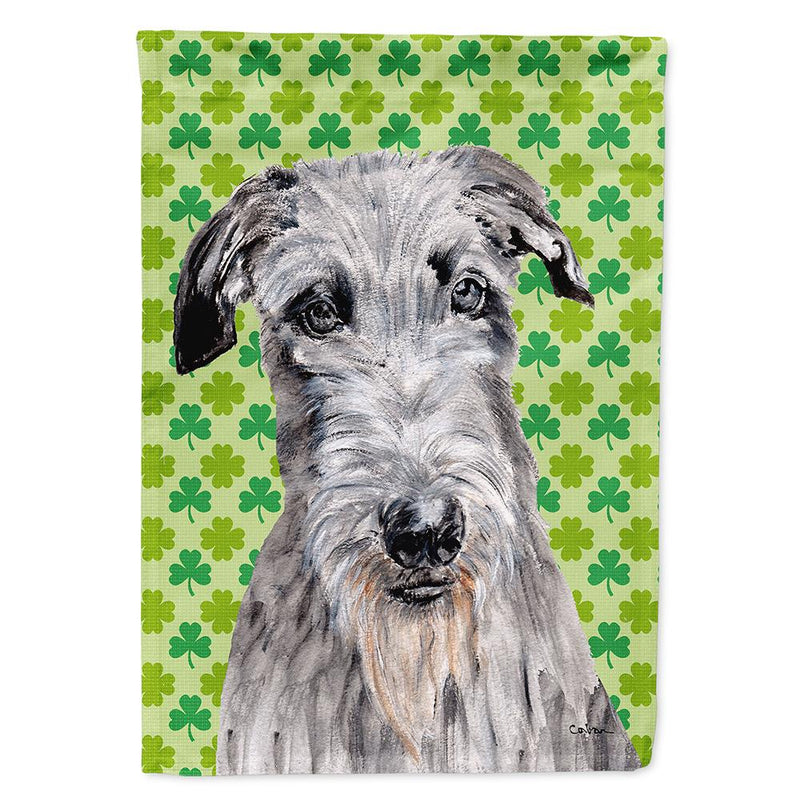 Buy this Scottish Deerhound Lucky Shamrock St. Patrick's Day Flag Garden Size