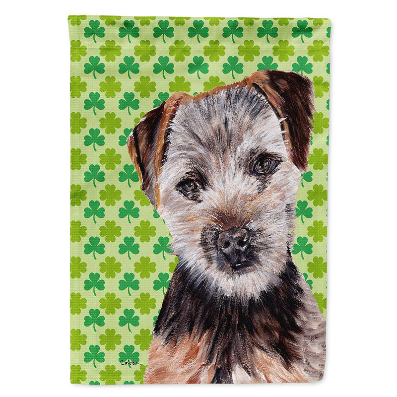 Buy this Norfolk Terrier Puppy Lucky Shamrock St. Patrick's Day Flag Garden Size