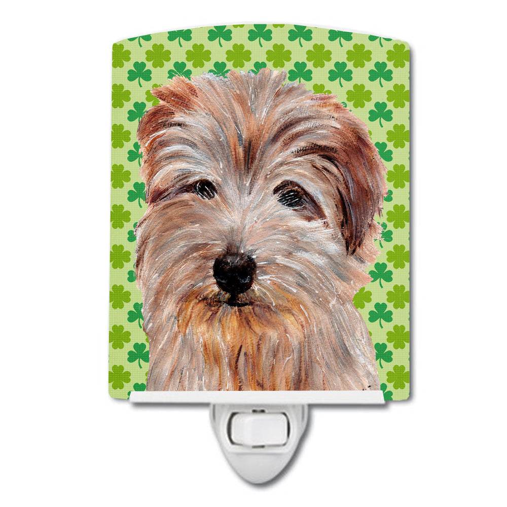 Buy this Norfolk Terrier Lucky Shamrock St. Patrick's Day Ceramic Night Light SC9736CNL