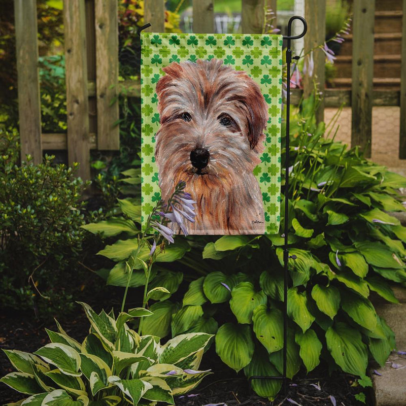 Buy this Norfolk Terrier Lucky Shamrock St. Patrick's Day Flag Garden Size SC9736GF
