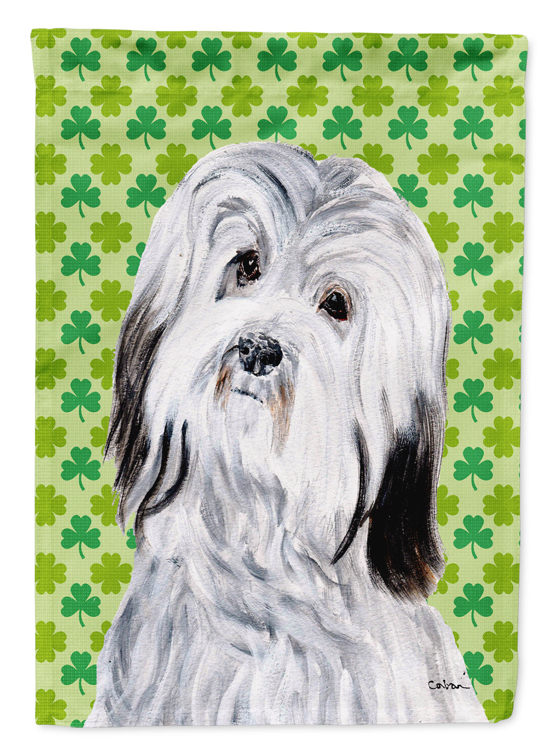 Buy this Havanese Lucky Shamrock St. Patrick's Day Flag Garden Size SC9737GF