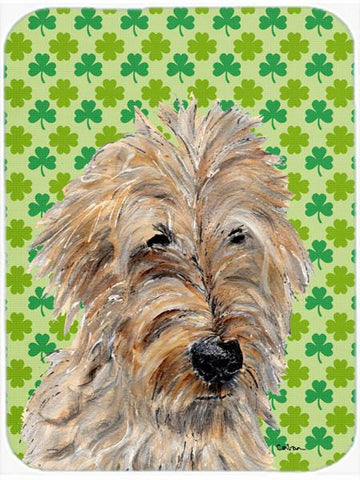 Buy this Golden Doodle 2 Lucky Shamrock St. Patrick's Day Glass Cutting Board Large Size SC9739LCB