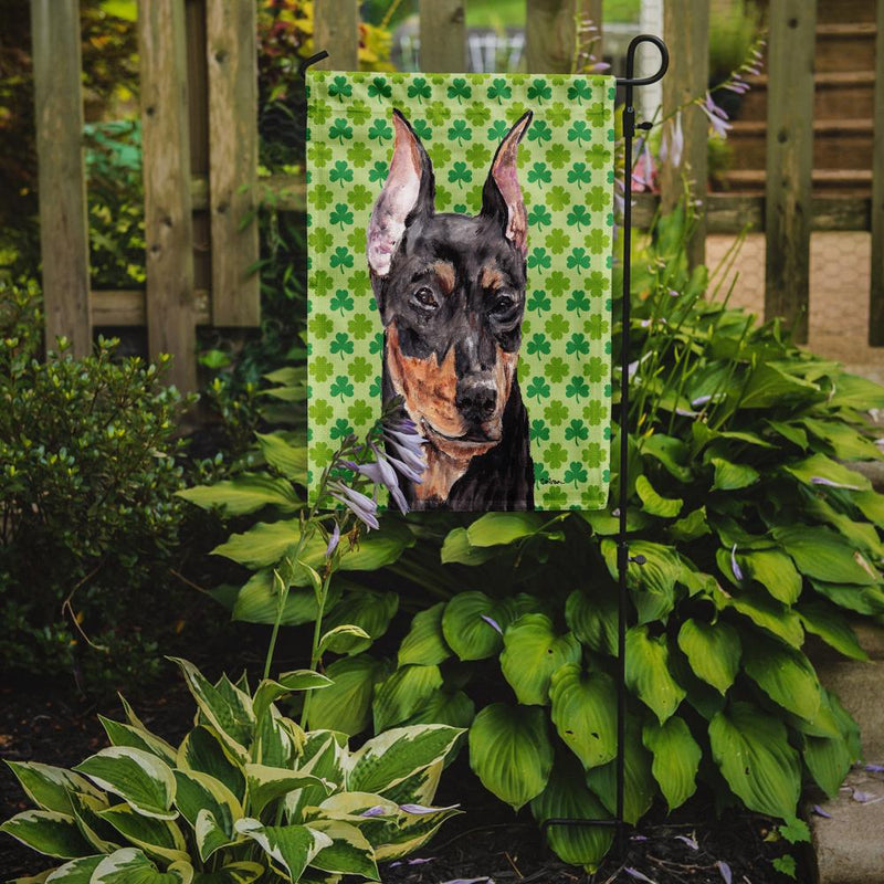 Buy this German Pinscher Lucky Shamrock St. Patrick's Day Flag Garden Size SC9740GF