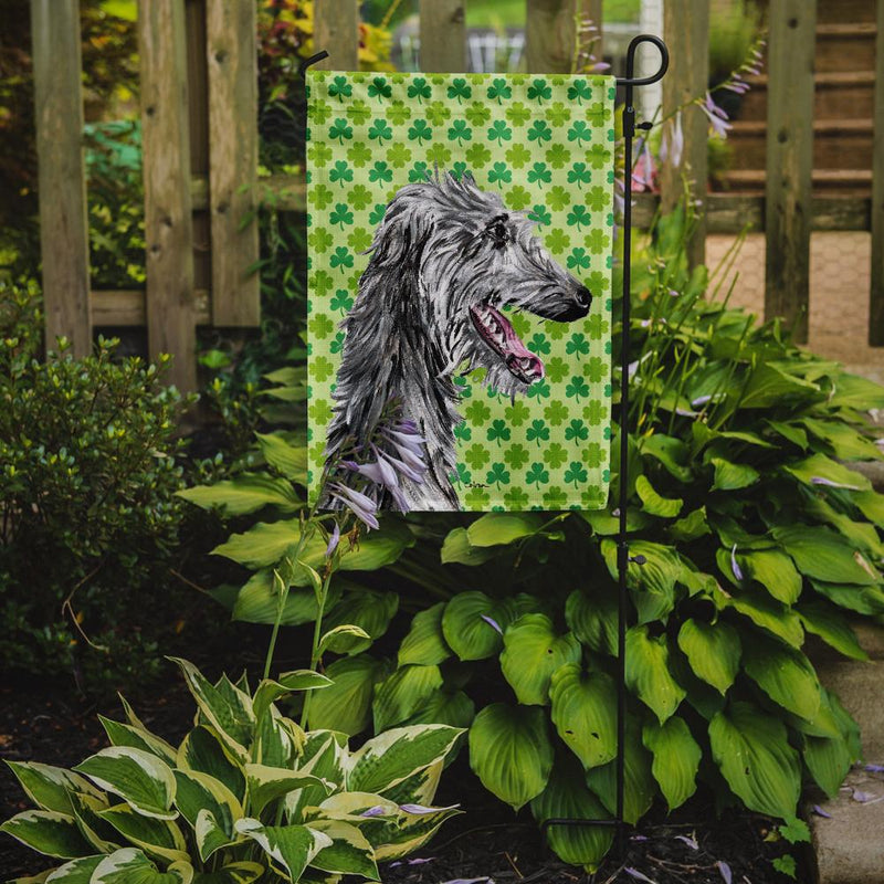 Buy this Scottish Deerhound Lucky Shamrock St. Patrick's Day Flag Garden Size SC9741GF
