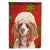 Red Miniature Poodle Red Snowflakes Holiday Flag Garden Size SC9747GF by Caroline's Treasures