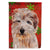 Buy this Norfolk Terrier Red Snowflakes Holiday Flag Garden Size SC9760GF