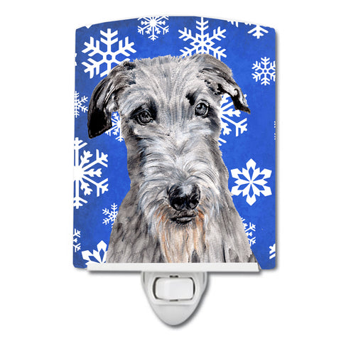 Buy this Scottish Deerhound Winter Snowflakes Ceramic Night Light SC9778CNL