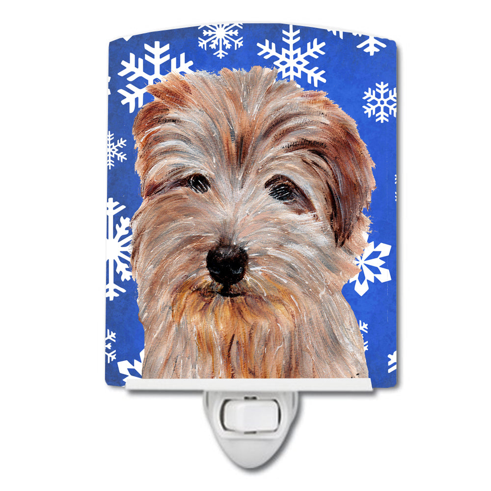 Buy this Norfolk Terrier Winter Snowflakes Ceramic Night Light SC9784CNL