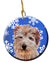 Buy this Norfolk Terrier Winter Snowflakes Ceramic Ornament SC9784CO1