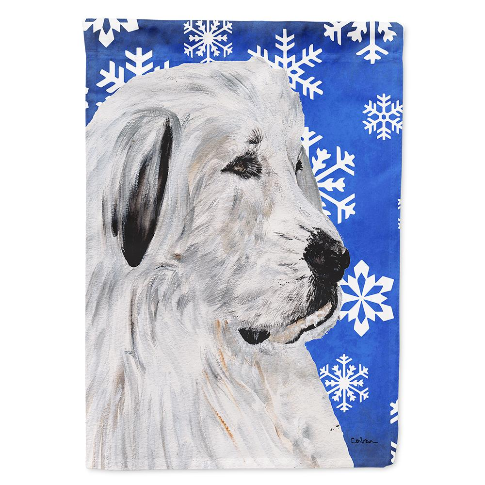 Great Pyrenees Winter Snowflakes Flag Garden Size SC9786GF by Caroline's Treasures
