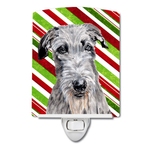 Buy this Scottish Deerhound Candy Cane Christmas Ceramic Night Light SC9802CNL