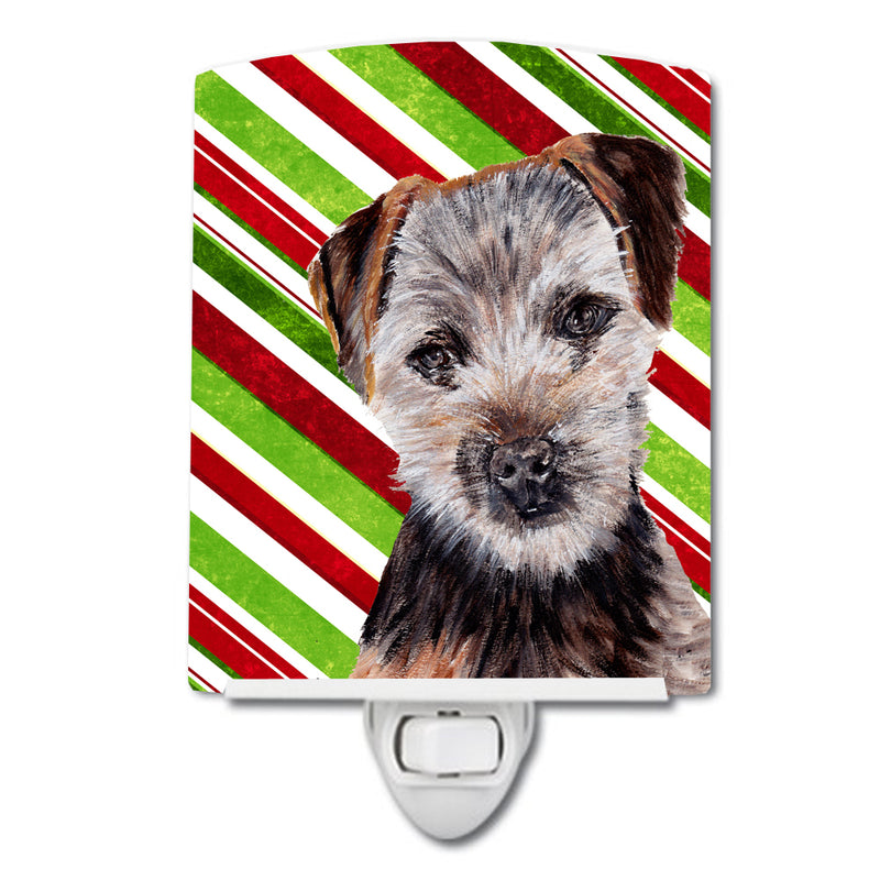 Buy this Norfolk Terrier Puppy Candy Cane Christmas Ceramic Night Light SC9807CNL