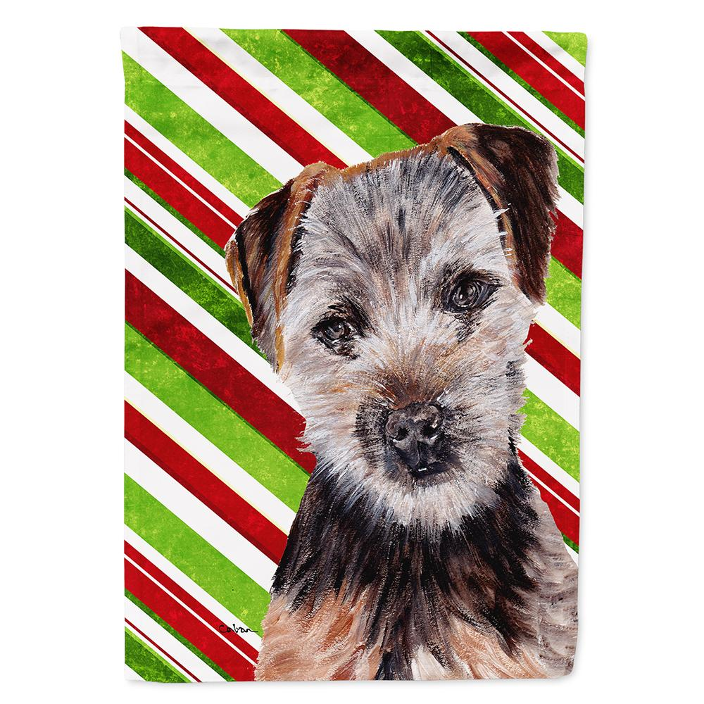 Norfolk Terrier Puppy Candy Cane Christmas Flag Garden Size SC9807GF by Caroline's Treasures