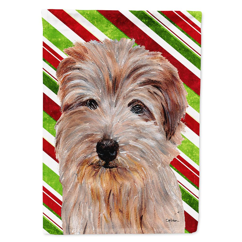 Norfolk Terrier Candy Cane Christmas Flag Garden Size by Caroline's Treasures