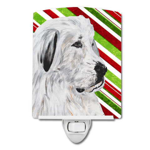 Buy this Great Pyrenees Candy Cane Christmas Ceramic Night Light SC9810CNL