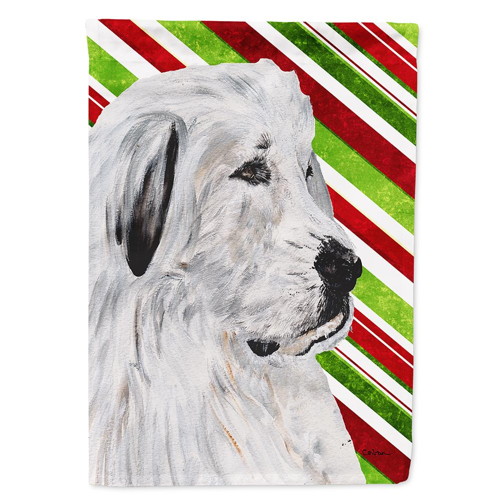 Great Pyrenees Candy Cane Christmas Flag Garden Size SC9810GF by Caroline's Treasures