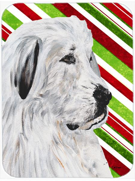 Great Pyrenees Candy Cane Christmas Glass Cutting Board Large Size SC9810LCB by Caroline's Treasures